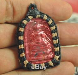 Leklai SURIYAN RACHA Natural Phra Somdej Somdet Wat Rakang LP Thai Buddha Amulet