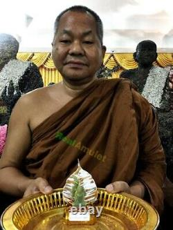Leklai Statue Green Glow in Dark Buddha Thai Amulet Moon Light Lp Somporn #9095