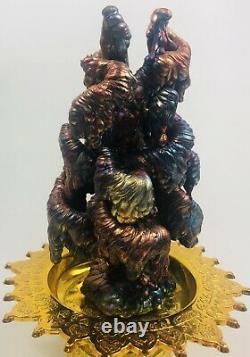 Leklai Suriyan Racha Rainbow Naga Top Thai amulet buddha stone magic Lp Somporn