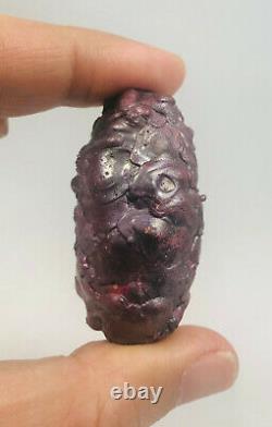 Leklai Suriyan Racha red Noni Thai amulet buddha stone Thailand Lp Somporn magic