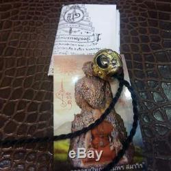 Leklai Takrud 1 Pendant LP Sompon Thai Buddha Amulet Life Protect Genuine Real