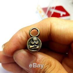 Leklai Takrut Yantra Genuine Real Thai Buddha Amulet Super Wealth Rich Rare