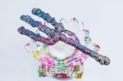Leklai trident Rainbow 7Color protect magic lucky Rare thai buddha amulet 676