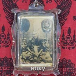 Locket Phra LP Glan Wat Prayat Back First Model Rean Old Thai Buddha Amulet Rare