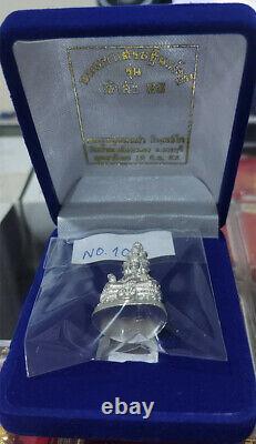 Lord Buddha 9 Face Silver LP Thongdam Thai Amulet Bring Lucky Wealth no. 225