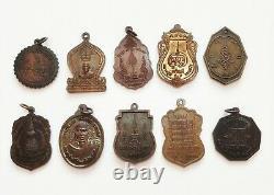 Lot Wholesale 50 pcs Thai Amulet Buddha LP Phra Talisman Magic Charm Pendant Old