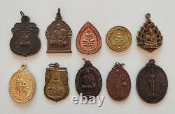 Lot Wholesale 50 pcs Thai Amulet Buddha Phra Lp Talisman Magic Charm Pendant