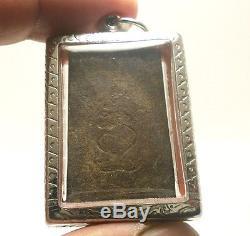 Lp Boon Big Belly Buddha Thai Antique Amulet Prosperity Lucky Rich Happy Pendant