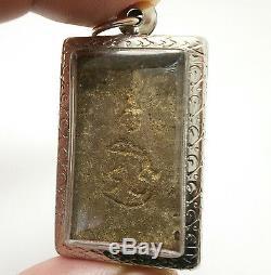 Lp Boon Buddha Enlighten Shield Thai Powerful Antique Amulet Super Rare Pendant