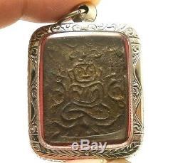 Lp Boon Buddha Magic Thai Healing Amulet Long Prosperity Lucky Life Pendant Gift