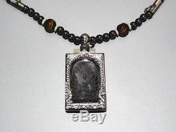 Lp. Boon Jaosuarichsamadhi Buddha Magic Yantra Thai Amulet Necklace Pendant Hot
