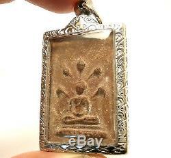 Lp Boon Nakprok Naga Life Protection From Evil Spirit Thai Buddha Amulet Pendant