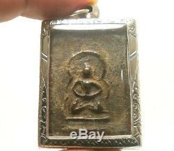Lp Boon Samadhi Buddha Blessing Thai Amulet Pendant Healthy Peaceful Happy Life