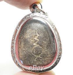 Lp Boon Samadhi Buddha Blessing Thai Amulet Pendant Healthy Peaceful Happy Life