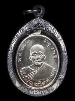 Lp Daeng Wat Khao Bandai It Thai Amulet Buddha Series Saturday 5 Be. 2534 Silver