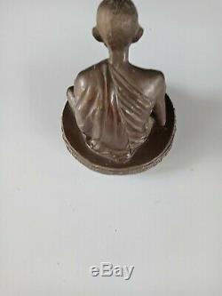 Lp Kasem Amulet Thai Buddha Phra Talisman Rare Magic Susan Triluck Luck Coin Ric