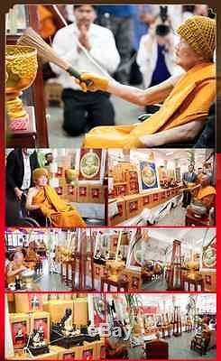 Lp Koon Wat Banrai Rien Metta Be. 2555 Silver Thai Amulet Buddha Coin Code. 1482
