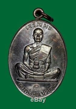 Lp Koon Wat Banrai Thai Amulet Buddha Series Jaroenpon 19 Copper Be. 2557 No. 1884