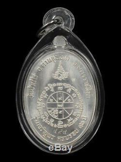 Lp Koon Wat Banrai Thai Amulet Buddha Series Jaroenpon 19 Silver Be. 2557 No. 498