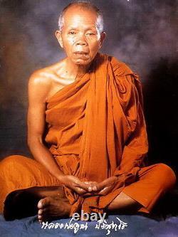 Lp Koon Wat Banrai Thai Amulet Buddha Series Klaew Klard Black With Katha Be2537
