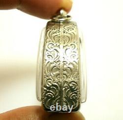 Lp Kron Pidta Pitta Metal Close Eyes Buddha Cron Real Thai Amulet Lucky Pendant