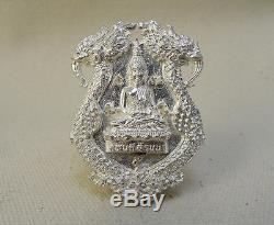 Lp Ngern Tanjid Top Thai Amulet Buddha Shiva On Rahu V. Kahabordeelanna 100% Rare