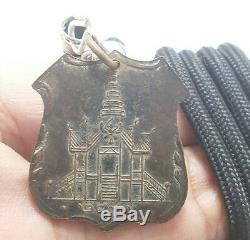 Lp Opasee Coin Blessed In 1954 Thai Buddha Amulet Lucky Success Pendant Necklace