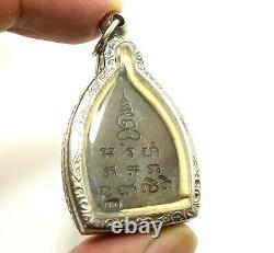 Lp Perm Jaosua Metal Coin 1992 Buddha Yant Amulet Buddha Thai Lucky Rich Pendant