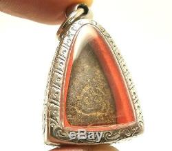 Lp Suk Sook Billionaire Triangle Buddha Thai Magic Yantra Amulet Lucky Pendant