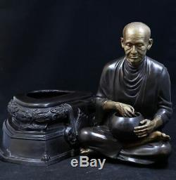 Lp Tho Wat Rakang Bangkok Brass Mixed Monk Old Thai Buddha Amulet Free Shipping