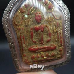 Lp Tim Buddha Khunphan Full Gold Takrut Thai Amulet Silver Water Proof Case