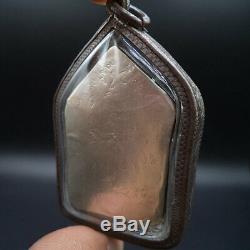 Lp Tim Buddha Khunphan Full Silver Takrut Thai Amulet Silver Water Proof Case