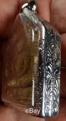 Lp Tim Phra Khun Paen Roop Tai Buddha Amulet 1 Takrut From Thailand