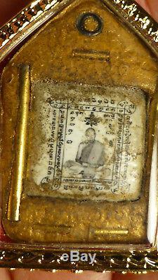 Lp Tim Phra Khun Paen Roop Tai Buddha Amulet 5 Takrut From Thailand