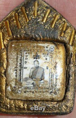 Lp Tim Roop Tai Phra Khun Paen Buddha Amulet 9 Takrut From Thailand