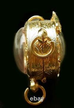 Lucky LOOK OM bucha amulet Lp Tim power metta rare collection, Real Thai Buddha