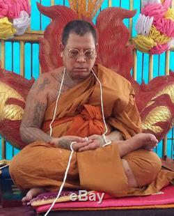 Magic EYE Amulet LP Wan Thai Buddha Power Good Luck Wealth Talisman Rich Protect