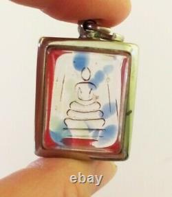 Magic Leklai Kaew Rainbow Phra Somdej Buddha Amulet Thai Power Protection Rare