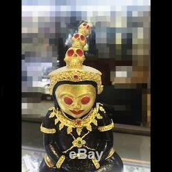 Magic Ngang Sit on Red Skull LP Amnaj Mahawero Wealth Charm Thai Buddha Amulet