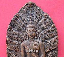 Magic! Phra Nark Prok 7 Naga Wat Palaung BE2006 Thai Buddha Wat Old Antique Rare