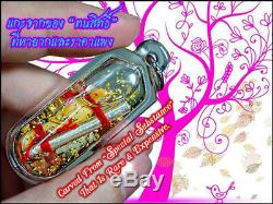 Magic Salika Phra Ajarn O Thai Buddha Amulet Attract Love Charming FREE NECKLACE