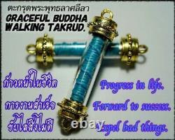 Magic Thai Bracelet Takrud Graceful Buddha Walk Amulet Talisman Money Protection
