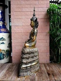 Magnificent Bronze Statues Buddha Phra Fang ix Thai Amulets B. E. 2545 Nice Wealth
