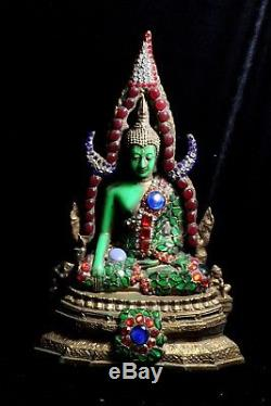 Magnificent Rama V Style Jewel Encrusted Thai Chinarat Buddha 34 cm Tall