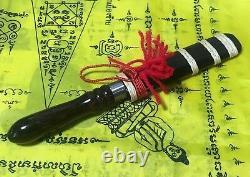Meed Mor Talisman Thai Amulet Dagger Knife Sword Shaman Buddha Wood Leklai Back