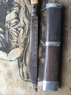 Meet (knife) L P Derm Wat Nong Poh, Nakhon Sawan yr 2456 Thai Buddha Amulet