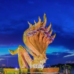 Naga Amulet Eye Thai Buddha Charm Powerful Wealth Lucky Crystal Gem Gems Holy