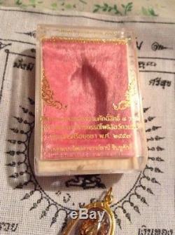 Naga Snake Mahapokasap Thai Amulet Buddha Rose Gold/gold Pendant 18K gold Case