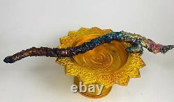 Naga wand SURIYAN RACHA 7 colors LEKLAI Thai buddha Amulet holy stone lp somporn