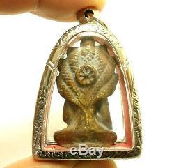 Nakprok Thai Antique Amulet Naga Snake Strong Protection Buddha Miracle Pendant